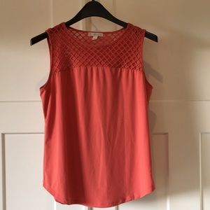 Dress Barn apricot sleeveless top